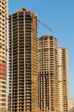Highrises residenciales bajo construcción imágenes de archivo libres de regalías