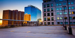 Highrises seen from the roof of the City Center Parking Garage i. N Wilmington, Delaware royalty free stock photography