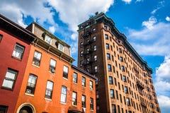 Highrises velhos em Baltimore, Maryland imagem de stock royalty free