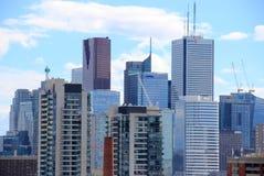 Highriseskyskrapor i Toronto, Kanada Fotografering för Bildbyråer