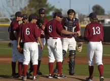 Highschool Baseball stockbild