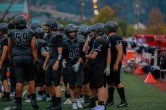 Highschool Fußballspieler stockfotografie