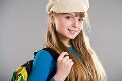 Highschool girl wearing beret Stock Photo