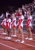 Highschool Homewood Flossmoor Fußball-Cheerleadern Stockbild