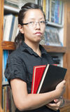 Highschool Student Carrying a Notebook Royalty Free Stock Photos