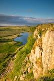 Highshield Crags pod Hadrian ` s ścianą obrazy royalty free