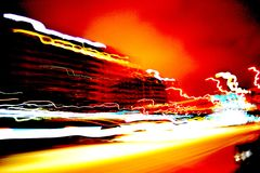 Highspeed city Stock Images