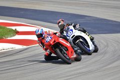 Highspeed Professional Motorcycle Racing royalty free stock images
