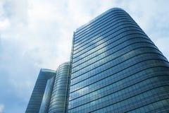 Hight Gebäude-Himmel Lizenzfreie Stockfotos