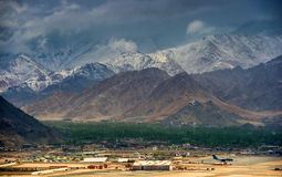 Hight landin Leh Ladakh Royalty Free Stock Images