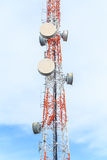 Hight media antenna broadcasting Royalty Free Stock Photography