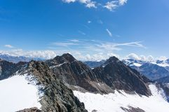 Hight mountain landscape in Tyrol Alps royalty free stock photography