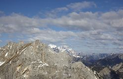 Hight mountain range landscape of the Alps Royalty Free Stock Photo