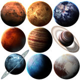 Hight quality isolated solar system planets Stock Photos