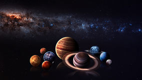 Hight quality isolated solar system planets Royalty Free Stock Images
