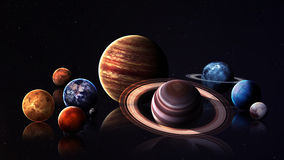 Hight quality isolated solar system planets. Hight quality solar system planets. Elements of this image furnished by NASA Royalty Free Stock Photography