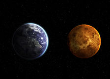 Hight quality solar system planets Stock Photo
