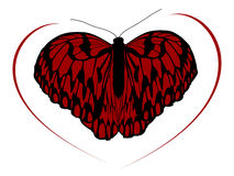 Hight quality traced butterfly 2 Royalty Free Stock Photo