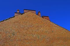 Hight rough brick wall stock images
