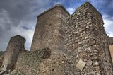 Hight tower of Castle of Feria Stock Image