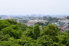 Hight view of CHIANGMAI city , Thailand. Royalty Free Stock Image