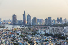 Hight view in Ho Chi Minh city Stock Photos