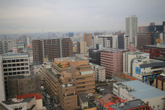 Hight view of tennoji district Royalty Free Stock Photos