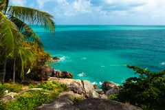 Hight view on tropical lagoon island, Phuket, Asia, Thailand Stock Photos
