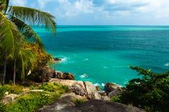 Hight view on tropical lagoon island, Phuket, Asia, Thailand Stock Photos