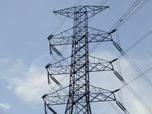 Hight volt tower Stock Images