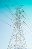 Hight voltage electricity pole Stock Image