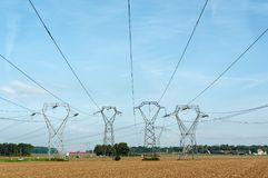 Hight voltage power line Royalty Free Stock Images