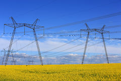 Hight voltage power line Stock Images