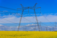 Hight voltage power line Stock Image