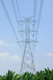 Hight voltage power tower Royalty Free Stock Image