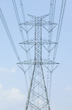 Hight voltage power tower Royalty Free Stock Images