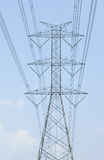 Hight voltage power tower Stock Photos