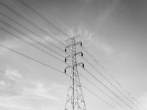 Hight voltage powerline Stock Photo