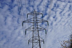 Hight voltage pylon. Pylon for transmission of high voltage Royalty Free Stock Photos