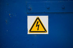 Hight voltage sign Royalty Free Stock Photography