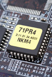 Hightech. Macro of a micro chip Stock Images
