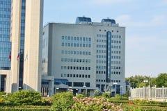 Hightech- Artgebäude Lizenzfreies Stockfoto