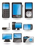 Hightech- Ausrüstung iconÑ Lizenzfreie Stockfotos