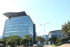 Hightech- Büros in Hong Kong stockbild