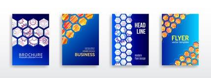 Hightech- BroschürenKonzept des Entwurfes stockbild