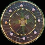 Hightech- dekorativer Hintergrund stockfotografie