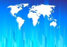 Hightech- Erdekarte lizenzfreie abbildung