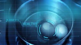Hightech futuristic scanning of eggs stock video