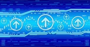 Hightech- Geschäftshintergrund Stockfoto