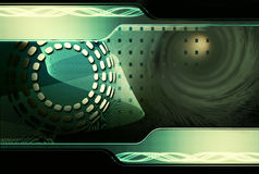Hightech- grüner Hintergrund Lizenzfreies Stockbild